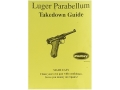 "Product detail of Radocy Takedown Guide ""Luger Parabellum"""