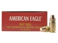 Federal American Eagle Ammunition 357 Sig 125 Grain Full Metal Jacket Box of 50