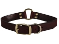 "Remington Latigo Dog Collar 1"" x 18"" Leather Brown"