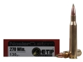 Nosler Trophy Grade Ammunition 270 Winchester 130 Grain E-Tip Lead-Free Box of 20