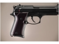 Hogue Extreme Series Grip Beretta 92FS Compact Brushed Aluminum Gloss Black