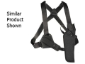 Uncle Mike&#39;s Sidekick Vertical Shoulder Holster Left Hand Medium Frame Semi-Automatic 3&quot; to 4&quot; Barrel Nylon Black