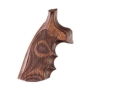 Hogue Fancy Hardwood Grips with Finger Grooves Ruger Speed Six Checkered Rosewood Laminate