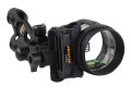 Apex Gear AG Axim 4 Light 4-Pin Bow Sight .019&quot; Diameter Pin Ambidextrous Aluminum Black