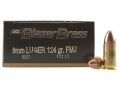 CCI Blazer Brass Ammunition 9mm Luger 124 Grain Full Metal Jacket Box of 50