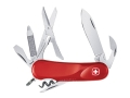 Wenger Swiss Army Evolution 14 Folding Knife 14 Function Swiss Surgical Steel Blades Polymer Scales Red