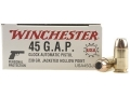 Winchester USA Ammunition 45 GAP 230 Grain Jacketed Hollow Point Case of 500 (10 Boxes of 50)