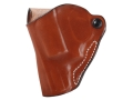 DeSantis Mini Scabbard Belt Holster Left Hand Smith & Wesson J-Frame Leather Tan