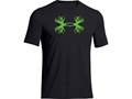 Under Armour Men's UA Antler T-Shirt Short Sleeve Cotton and Polyester Blend Black Large 42-44