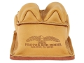 Protektor Bunny Ear Rear Shooting Rest Bag with Heavy Bottom Leather Tan Unfilled