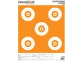 "Champion ShotKeeper 5 Large Bullseye Target 11"" x 16"" Paper White/Orange Bull Package of 12"
