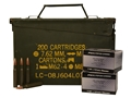 PW Arms Ammunition 8x57mm JS Mauser (8mm Mauser) 170 Grain Full Metal Jacket Boat Tail Ammo Can of 280 (14 Boxes of 20)