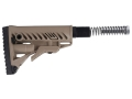 Mako GLR16 Buttstock Assembly 6-Position Collapsible AR-15 Carbine Synthetic Tan