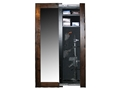 Willa-Hide Hidden Reflections Full-Length Mirror Security Cabinet Mahogany