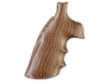 Hogue Fancy Hardwood Conversion Grips with Finger Grooves S&W N-Frame Round to Square Butt