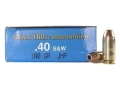 Black Hills Remanufactured Ammunition 40 S&amp;W 180 Grain Jacketed Hollow Point Box of 50