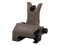 Troy Industries Front Flip-Up Battle Sight M4-Style with Tritium AR-15 Handguard Height Aluminum Flat Dark Earth
