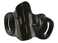Product detail of DeSantis Mini Slide Belt Holster Left Hand Glock 17, 19, 22, 23, 26, 27, 31, 32, 33, 36 Leather Black