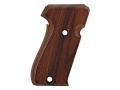 Product detail of Hogue Fancy Hardwood Grips Sig Sauer P220 Side Magazine Release Checkered Pau Ferro