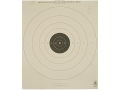 NRA Official Pistol Targets B-8(T) 25 Yard Timed and Rapid Fire Tagboard Pack of 100