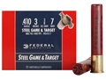 Product detail of Federal Game &amp; Target Ammunition 410 Bore 3&quot; 3/8 oz #7 Non-Toxic Steel Shot Box of 25
