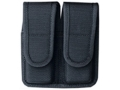 Bianchi 7302 Double Magazine Pouch Beretta 92, Glock 17, 19, 22, 23 Hidden Snap Closure Nylon Black