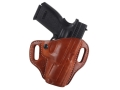 El Paso Saddlery Crosshair Outside the Waistband Holster Right Hand Springfield XD 45 Service Leather Russet Brown