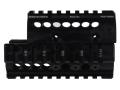 Midwest Industries 2-Piece Handguard Quad Rail Bulgarian Krinkov AK-47, AK-74 Aluminum Black