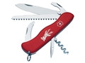 Victorinox Swiss Army Hunter Folding Hunting Knife 12 Function Stainless Steel Blade Polymer Handle Red