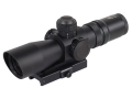 NcStar Mark 3 Compact Tactical Rifle Scope 2-7x 32mm Red or Green Illuminated Mil-Dot Reticle Matte with Integral Quick Release Weaver-Style Base