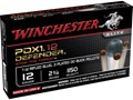 Winchester Supreme Elite Self Defense Ammunition 12 Gauge 2-3/4&quot; 1/2 oz 00 Buckshot over 1 oz Slug Bonded PDX1 Box of 10