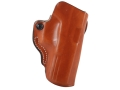 DeSantis Mini Scabbard Outside the Waistband Holster Right Hand Glock 17, 22, 31 Leather Tan