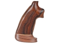 Hogue Fancy Hardwood Grips with Accent Stripe Colt Python Oversize Checkered Cocobolo