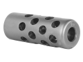 "Gentry Quiet Muzzle Brake 308 Caliber 1/2""-28 Thread .750"" Outside Diameter x 1.94"" Length Stainless Steel"