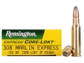Product detail of Remington Express Ammunition 308 Marlin Express 150 Grain Core-Lokt Soft Point Box of 20