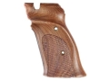 Hogue Fancy Hardwood Grips S&amp;W 41 Right Hand Thumb Rest Checkered Pau Ferro