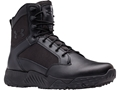"Under Armour UA Stellar 8"" Uninsulated Tactical Boots Leather and Nylon Black Men's"