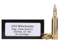 Product detail of Doubletap Ammunition 243 Winchester 85 Grain Barnes Triple-Shock X Bullet Hollow Point Lead-Free Box of 20