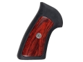 Ruger Factory Grip 1-Piece Rubber With Wood Inserts Ruger GP100, Super Redhawk 44 Remington Magnum