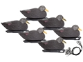 Hard Core Pre-Rigged Mag Black Duck Decoy Pack of 6