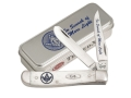 Case 5685 Masonic Mini Trapper Folding Knife 2-Blade Stainless Steel Blades Genuine Natural Bone