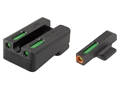 TRUGLO TFX Pro Sight Set 1911 Kimber Cut Tritium / Fiber Optic Green with Orange Front Dot Outline