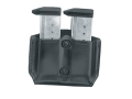 Product detail of Gould & Goodrich B831-4 Paddle Double Magazine Pouch Glock 17,19, 20, 21, 22, 23, 26, 27, 29, 30, 31, 32, 33, 34, 35, HK USP 9, 357, 40, 45, Para-Ordnance P10, 12, 13, 14, 15, 16 Leather Black