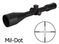 Leapers UTG AccuShot SWAT Rifle Scope 30mm Tube 4-16x 56mm Side Focus Mil-Dot Reticle Matte