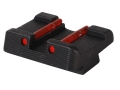 "HIVIZ Rear Sight Glock 9mm Luger, 40 S&W, 357 Sig Models .256"" Height Steel Fiber Optic Red"