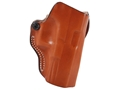 DeSantis Mini Scabbard Outside the Waistband Holster Right Hand Glock 19, 23, 32 Leather Tan