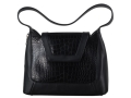 Galco Newport Conceal Carry Handbag Leather and Faux Alligator Black