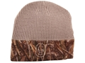 Hard Core Men's Waffle Beanie Synthetic Blend Realtree Max-5 and Taupe