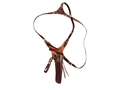 "Triple K 602 Hunter's Shoulder Holster Right Hand Remington 1858 8"" Barrel Leather Walnut Oil"