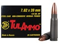TulAmmo Ammunition 7.62x39mm 124 Grain Hollow Point (Bi-Metal) Steel Case Berdan Primed